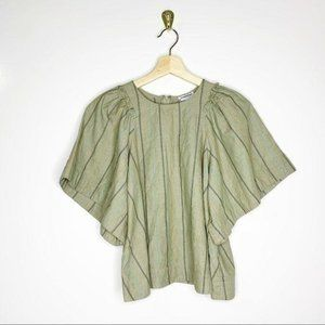 Current Air Striped Embroidered Blouse
